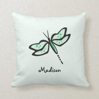Kelly Green Dragonfly Pillows