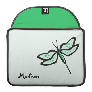 Kelly Green Dragonfly Sleeve For MacBooks