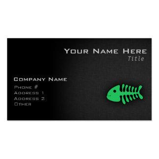 Kelly Green Fish Bones Business Card