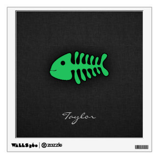 Kelly Green Fish Bones Wall Decal