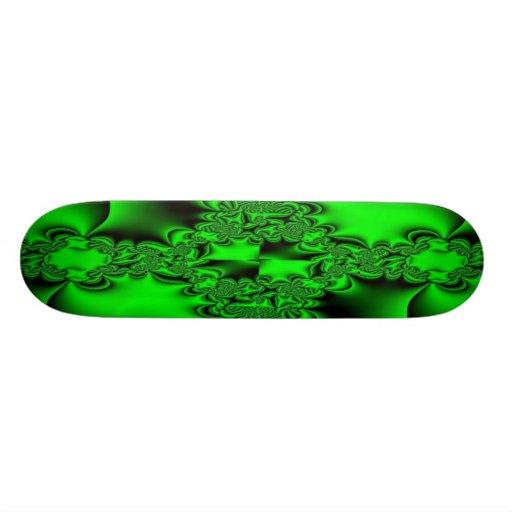 Kelly Green Fractal Skateboard