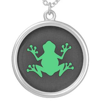 Kelly Green Frog Pendants