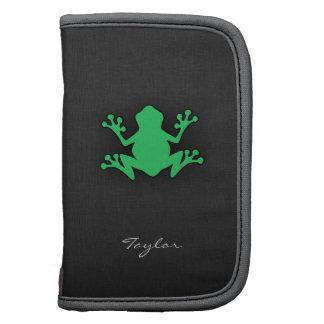 Kelly Green Frog Folio Planner