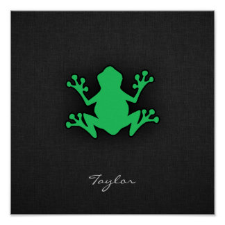 Kelly Green Frog Poster