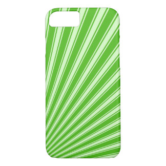 Kelly green Funky Sun Rays Background iPhone 7 Case