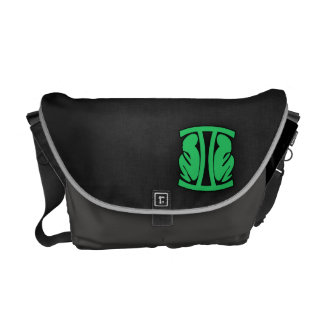 Kelly Green Gemini Courier Bag