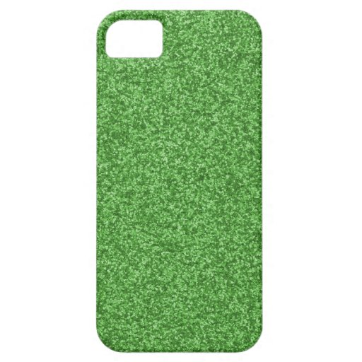 Kelly Green Glitter iPhone 5 Cases