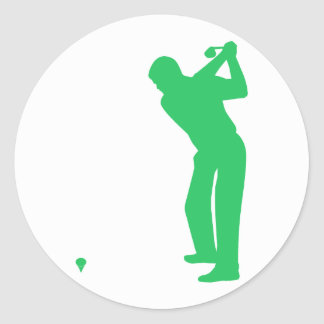 Kelly Green Golf Classic Round Sticker