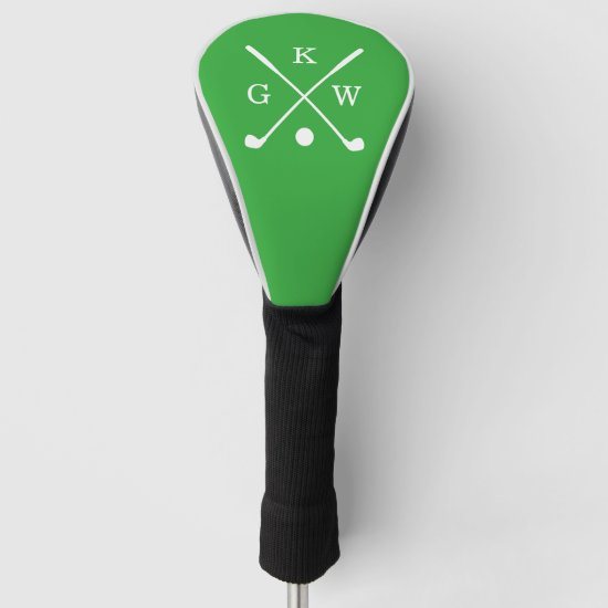 Kelly Green Golf Clubs Monogram Golf Head Cover