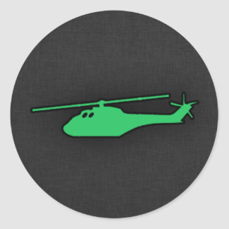 Kelly Green Helicopter Stickers