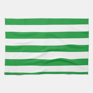Kelly Green Horizontal Stripes; Striped Towels