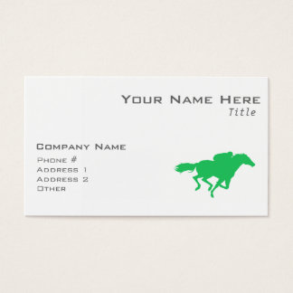 Kelly Green Horse Racing Business Card
