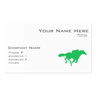 Kelly Green Horse Racing Double-Sided Standard Business Cards (Pack Of 100)