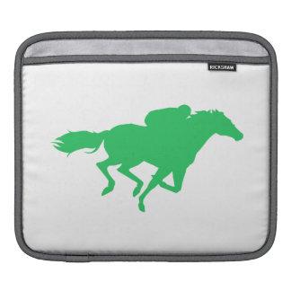 Kelly Green Horse Racing iPad Sleeves