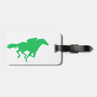 Kelly Green Horse Racing Luggage Tags