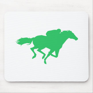 Kelly Green Horse Racing Mouse Pad