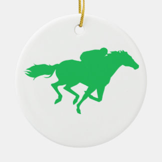 Kelly Green Horse Racing Christmas Tree Ornament