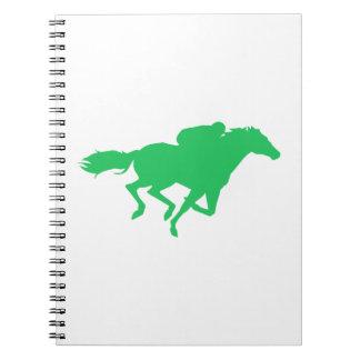 Kelly Green Horse Racing Spiral Notebook