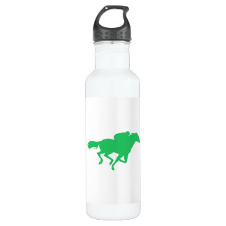 Kelly Green Horse Racing Stainless Steel Water Bottle