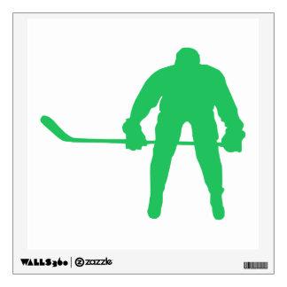 Kelly Green Ice Hockey Room Decals
