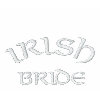Kelly Green Irish Bride Embroidered Shirt