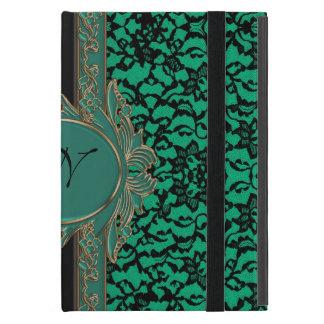 Kelly Green Irish Lace Custom Monogram Covers For iPad Mini
