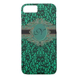 Kelly Green Irish Lace Custom Monogram iPhone 7 Case