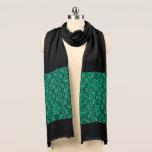 "Kelly Green Irish Lace Scarf<br><div class=""desc"">Kelly Green Irish Lace Scarf.  Elegant,  vintage inspired rich green lace print against black.</div>"
