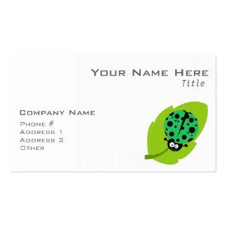 Kelly Green Ladybug Business Card