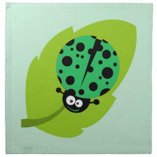 Kelly Green Ladybug Napkin
