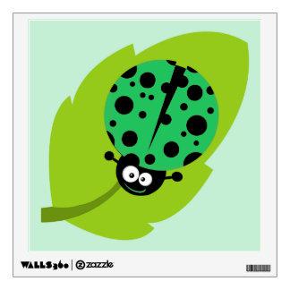 Kelly Green Ladybug Wall Sticker