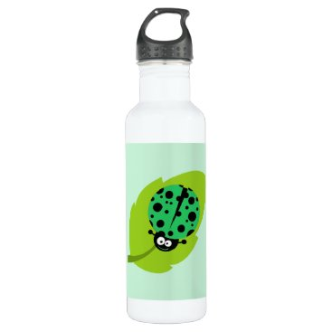 ColorStock Kelly Green Ladybug Water Bottle