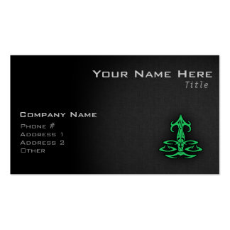 Kelly Green Libra Business Card