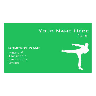 Kelly Green Martial Arts Business Card