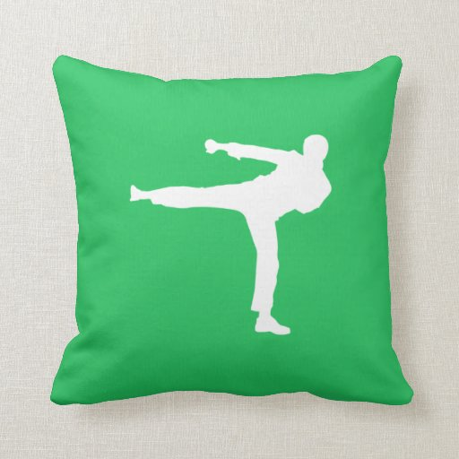 Kelly Green Throw Pillow : Kelly Green Martial Arts Throw Pillow Zazzle