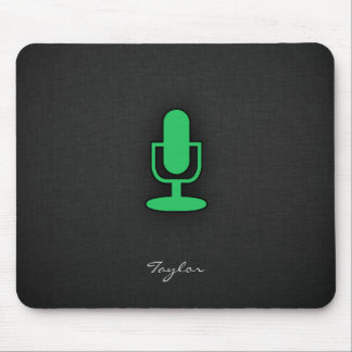 Kelly Green Microphone Mouse Pad