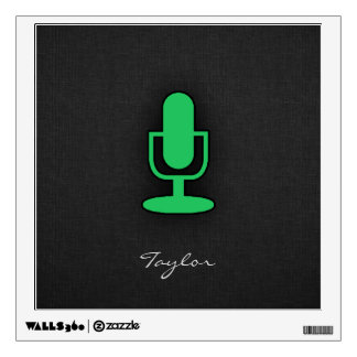 Kelly Green Microphone Wall Decal