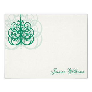 Kelly Green Note Cards (Tori's Collection)