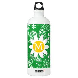 Kelly Green Paisley; Daisy SIGG Traveler 1.0L Water Bottle