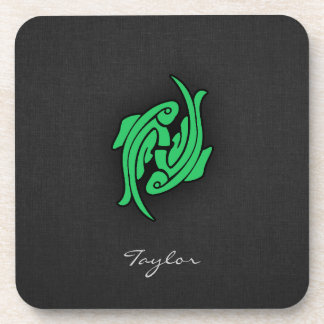 Kelly Green Pisces Coaster