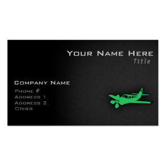 Kelly Green Plane Double-Sided Standard Business Cards (Pack Of 100)