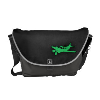 Kelly Green Plane Courier Bag