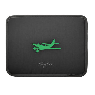 Kelly Green Plane MacBook Pro Sleeve