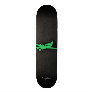 Kelly Green Plane Custom Skate Board