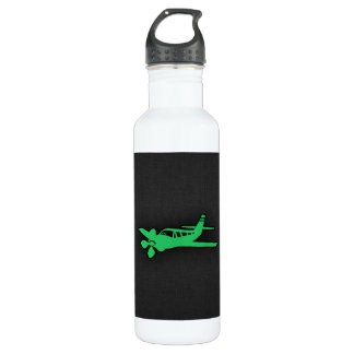Kelly Green Plane Water Bottle