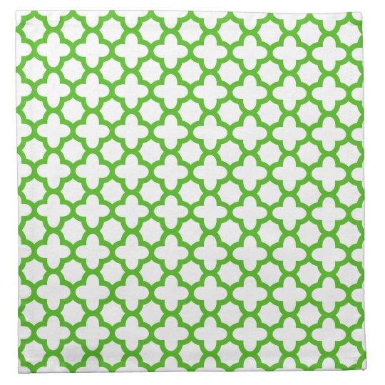 Kelly Green Quatrefoil Pattern Napkin