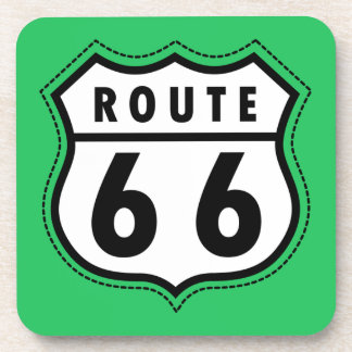 Kelly Green Route 66 Road Sign Coaster