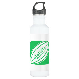 Kelly Green Rugby Stainless Steel Water Bottle