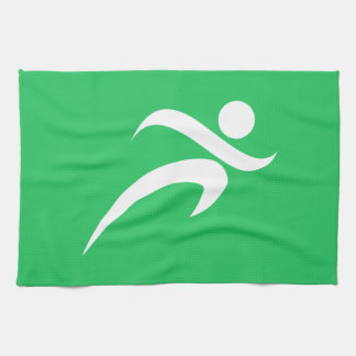 Kelly Green Running Towel