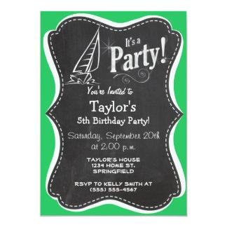 Kelly Green Sailing 5x7 Paper Invitation Card